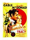 San Francisco  Jeanette Macdonald  Clark Gable  Jeanette Macdonald on Midget Window Card  1936
