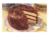 Cake with Chocolate Frosting