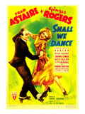 Shall We Dance  Fred Astaire  Ginger Rogers on Midget Window Card  1937