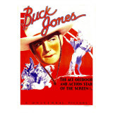 Buck Jones on Stock Window Card  1936