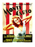 Monte Carlo  Jeanette Macdonald on Window Card  1930