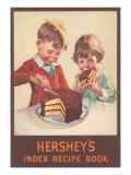 Hershey's Index Recipe Book  Children Eating Cake