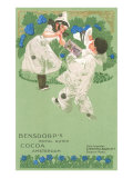 Bensdorp's Cocoa Advertisement with Young Harlequins