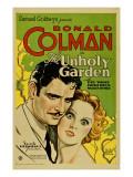 The Unholy Garden  Ronald Colman  Fay Wray  1931