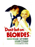 Don'T Bet on Blondes  Warren William  Claire Dodd on Midget Window Card  1935