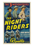 The Night Riders  Max Terhune  Ray Corrigan  John Wayne  Movie Poster Art  1939