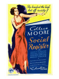 Social Register  Colleen Moore on Midget Window Card  1934