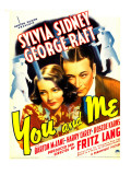 You and Me  Sylvia Sidney  George Raft on Window Card  1938