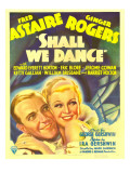 Shall We Dance  Fred Astaire  Ginger Rogers on Window Card  1937