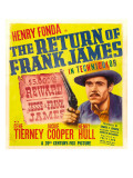 The Return of Frank James  Henry Fonda on Window Card  1940