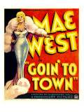 Goin&#39; to Town  Mae West on Window Card  1935