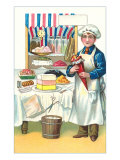 Boy with Various Desserts  Illustration