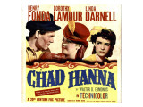 Chad Hanna  Henry Fonda  Dorothy Lamour  Linda Darnell on Window Card  1940