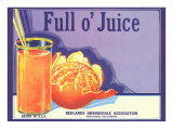 Full o&#39; Juice Orange Crate Label