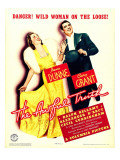 Awful Truth  Irene Dunne  Cary Grant on Window Card  1937
