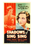Shadows of Sing Sing  Bruce Cabot  Mary Brian on Midget Window Card  1933