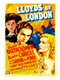 Lloyds of London  Freddie Bartholomew  Tyrone Power  Madeleine Carroll on Midget Window Card  1936