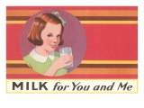 Milk for You and Me Advertisement  School Girl