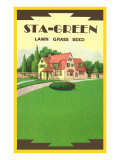 Sta-Green Lawn Grass Seed Packet