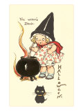 Child Witch with Cauldron