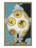 Clown with Halloween Motifs
