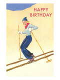 Happy Birthday  Lady Skiing