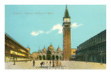 St Mark's Square and Basilica  Venice  Italy