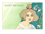 Happy Birthday  Art Nouveau