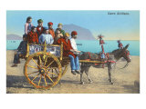 Sicilian Cart with Donkey  Italy