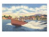 Speedboat  Lake Coeur d'Alene  Idaho