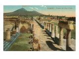 View of the Forum  Pompeii  Italy