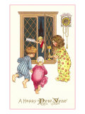 A Happy New Year  Victorian Children