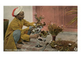 Malee  North African Gardener with Bouquets