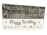 Happy Birthday  Cowgirl Chorus Line
