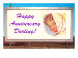 Happy Anniversary Darling  Woman on Billboard