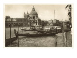 Gondolas and Salute Church  Venice  Italy