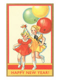 Little Girls with Balloons