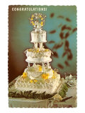 Congratulations  Three-Tiered Wedding Cake