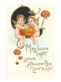 Halloween  Cherubs with Jack O'Lanterns