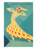Happy Birthday  Art Deco Dancer