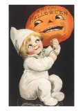 Child with Jack O&#39;Lantern