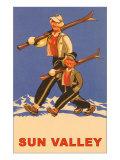 Skiing in Sun Valley  Idaho  Graphics