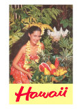 Hawaii  Hawaiian Woman with Fruit