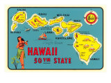 Map of Hawaiian Islands
