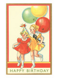 Young Girls with Balloons