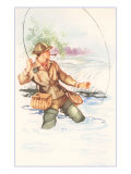 Fisherman with Pipe  Illustration