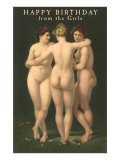 Happy Birthday from the Girls  Three Nudes