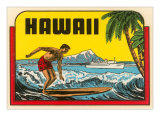 Hawaii  Surfer at Diamond Head  Cruise Ship