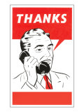 Thanks Businessman Talking on Phone