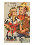Happy Anniversary Darlin&#39;  Cowboy and Cowgirl Cooking